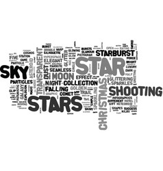 Stars word cloud concept vector