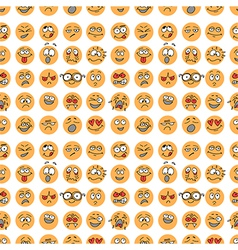 Seamless pattern with hand drawn emoticons doodle vector