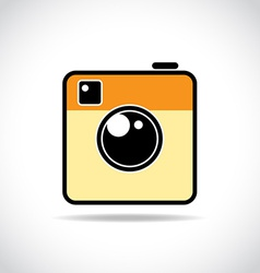 Trendy camera icon vector