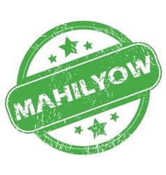 Mahilyow green stamp vector