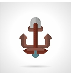 Flat color anchor icon vector