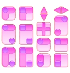 Pink and Lilac Buttons Set vector image