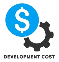 Development cost icon with caption vector