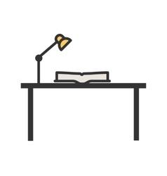 Study desk i vector