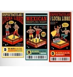 Mexican wrestler set Lucha Libre vector image