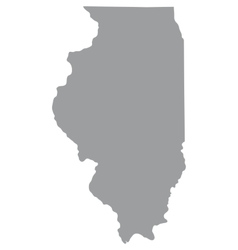 Map of the us state of illinois vector