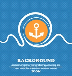 Anchor icon sign blue and white abstract vector