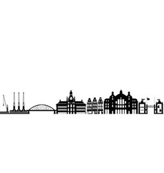 Antwerp city skyline vector