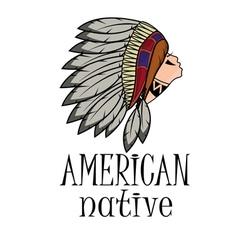 Apache head professional logo vector