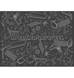 Bathroom chalk vector image