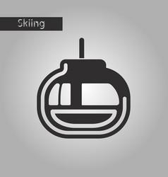 black and white style icon cabin ski lift vector image