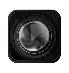 black lens camera icon vector image