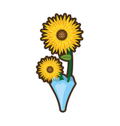 Bouquet sunflower beuty image vector