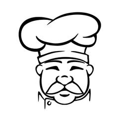 Chef in traditional uniform vector image vector image