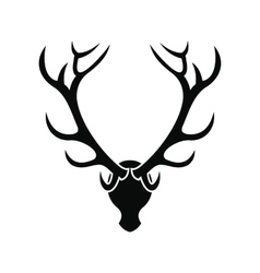 Deer head black simple icon vector