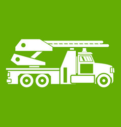 Fire engine icon green vector