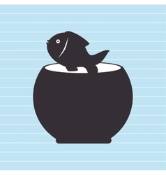 Fish in fish tank design vector