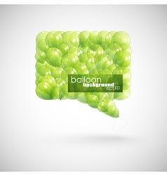 Green balloon speech bubble vector