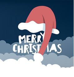 Greeting card with Santas hat vector image vector image