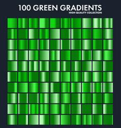Grren chrome gradient setpatterntemplatenature vector