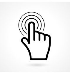 Hand click or pointer icon vector