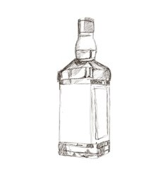 liquor bottle sketch icon vector image