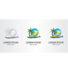 logo island vector image