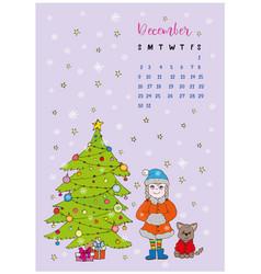 month calendar december 2018 vector image vector image