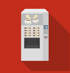 Office coffee vending machine icon in flat style vector