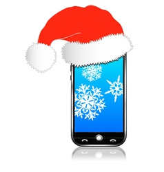 Phone Christmas Gift vector image