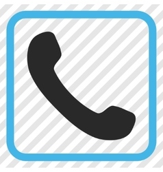 Phone receiver icon in a frame vector