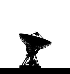 Radio telescope vector image