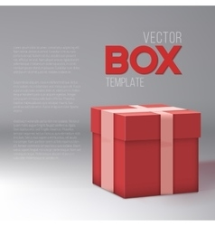 Realistic 3d present gift box birthday vector