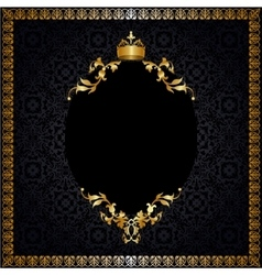 Royal background with frame vector