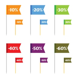 sale on flags color vector image
