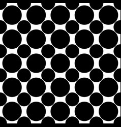 Seamless monochrome circle pattern vector