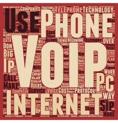 Sip telephony another way to save money text vector