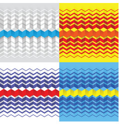 texture seamless zigzag pattern vector image vector image