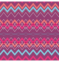Tribal boho seamless pattern with rhombus vector