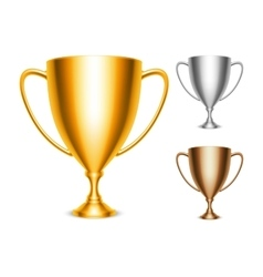 Trophy Cup Icons vector image