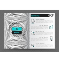 Business brochure design template layout line icon vector