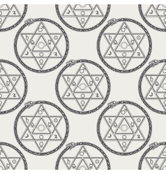Seamless pattern with mystical astrological sign vector