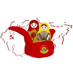 Russian nesting doll artists vector