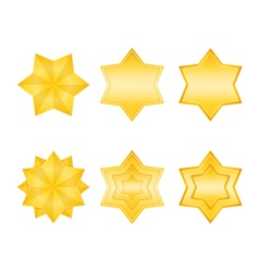 Golden Stars Icons vector image