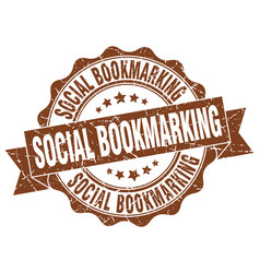 Social bookmarking stamp sign seal vector