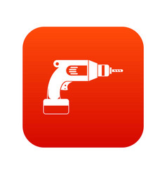 drill icon digital red vector image