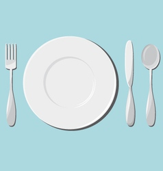 Dishes and cutlery vector
