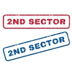 2nd sector rubber stamps vector