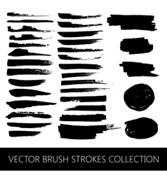Collection of brush strokes and marker stains vector