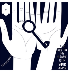 Key to my heart is in your arms vector